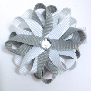 Millennium Silver White Hair Bow