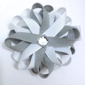 Millennium Silver White Hair Bow