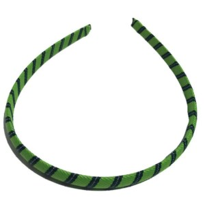 Green Stripe thin Headband