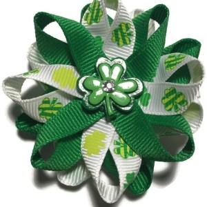 Shamrock Handmade Hair Bow