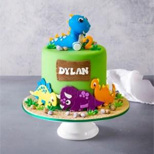 Торт с динозавтрами