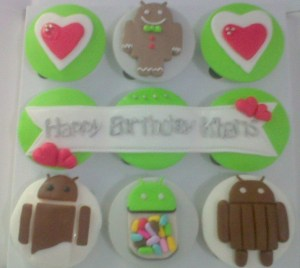 android bday cupcake