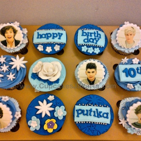 Birthday Cupcakes tema One Direction