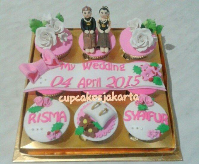 10 Ide Cupcake Untuk Hantaran Pernikahan