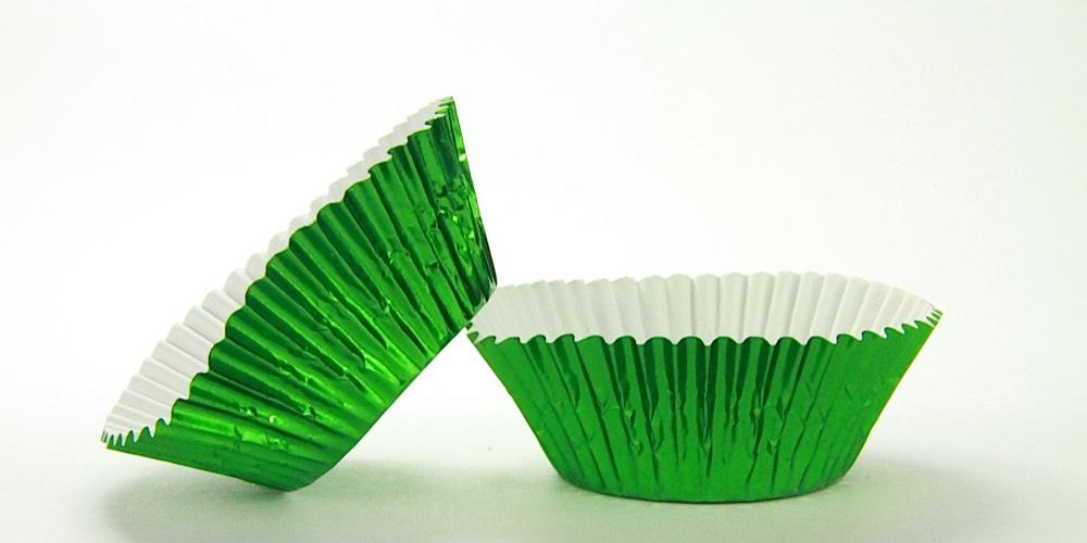 500pc Standard Size Green Foil Baking Cup With Greaseproof