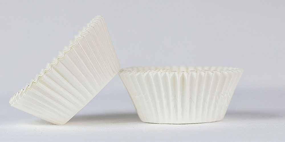 500pc Solid White Color Standard Size Cupcake Baking Cups