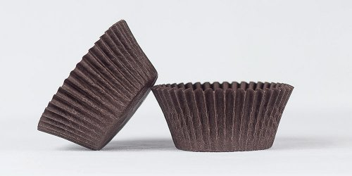 500pc Solid Brown Color Standard Size Cupcake Baking Cups