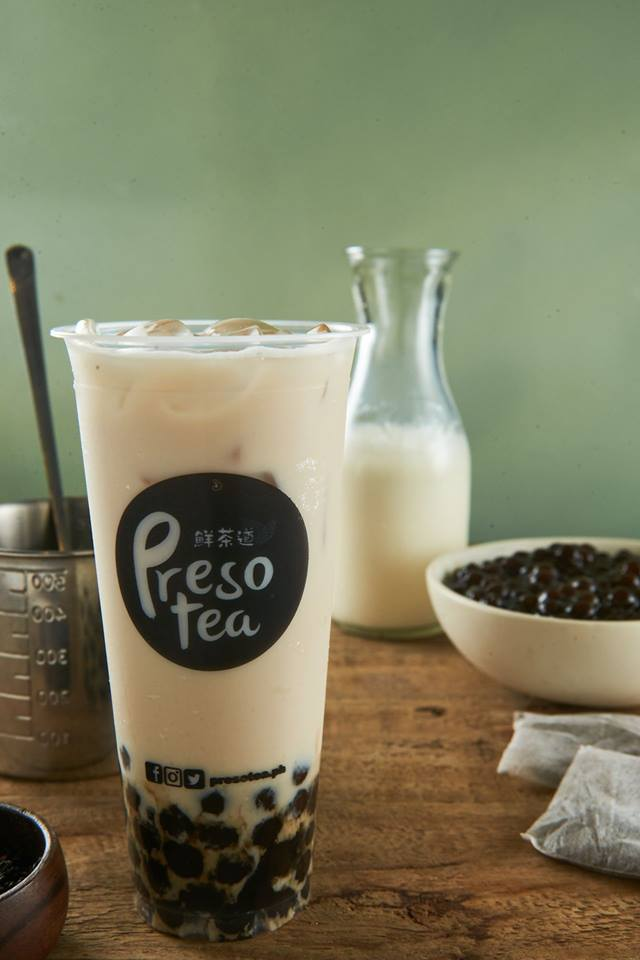 presotea signature tea latte with pearl