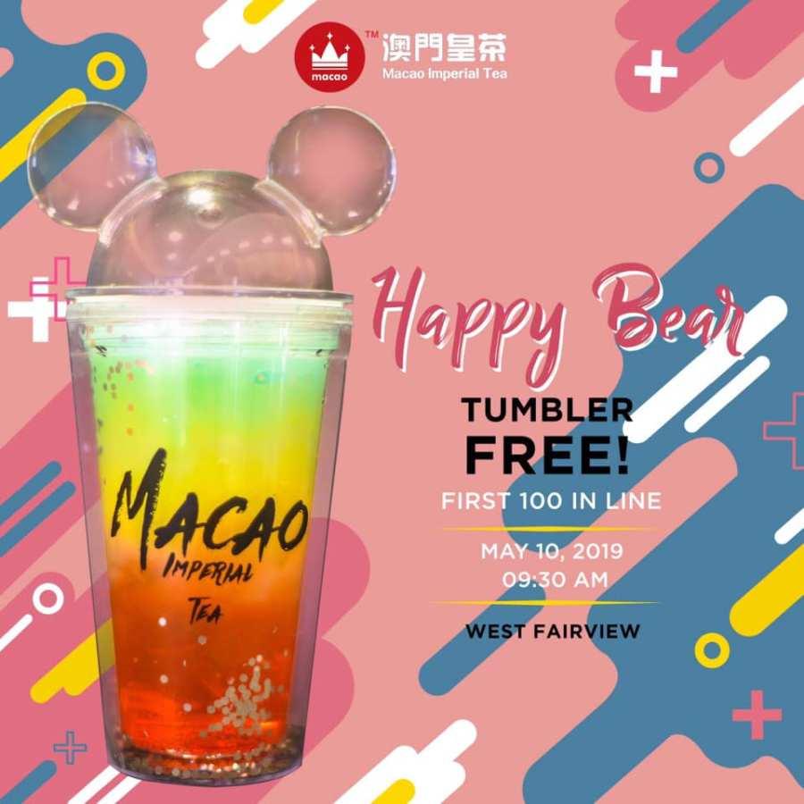 happy bear tumbler macao imperial tea west fairview