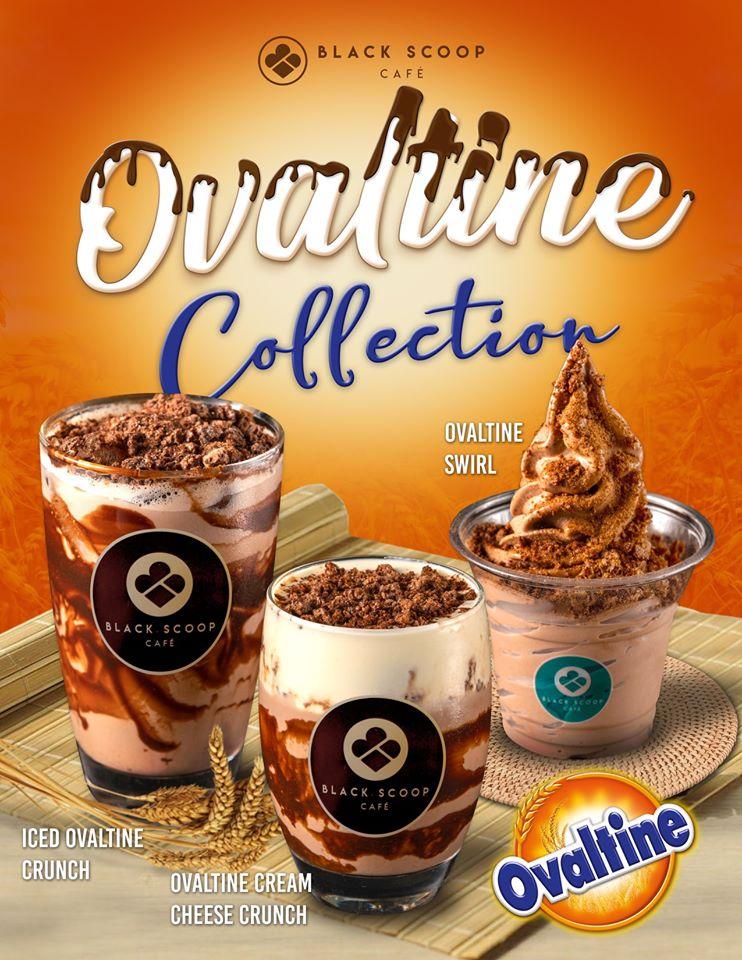 black scoop cafe ovaltine ice cream