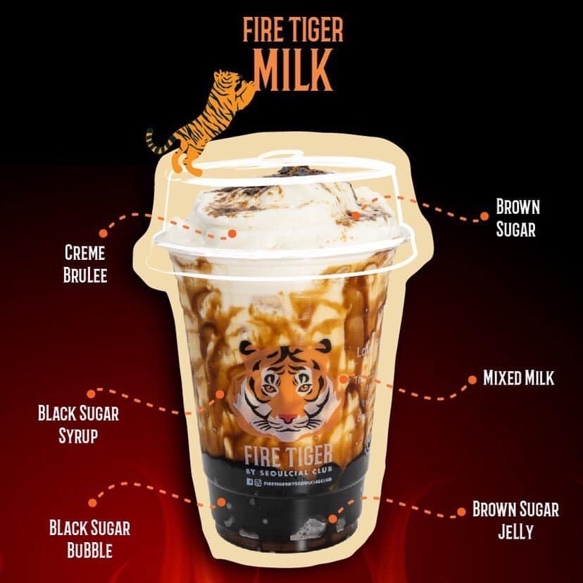 Fire Tiger Milk Tea Best seller