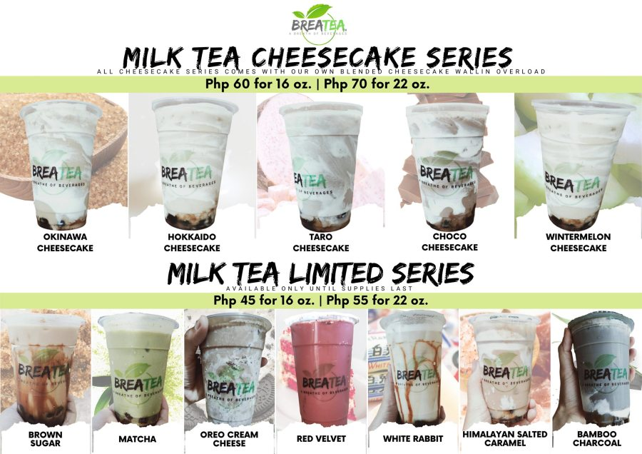 Breatea PH Menu Milk Tea Cheesecake