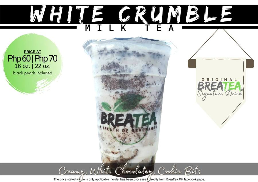 Breatea PH Menu White Crumble