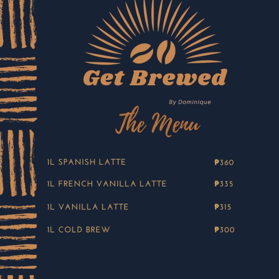 Get Brewed Pricelist
