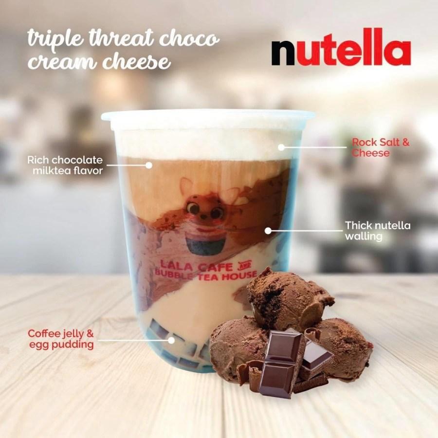 Lala Cafe and Bubble Tea House Nutella Milk Tea
