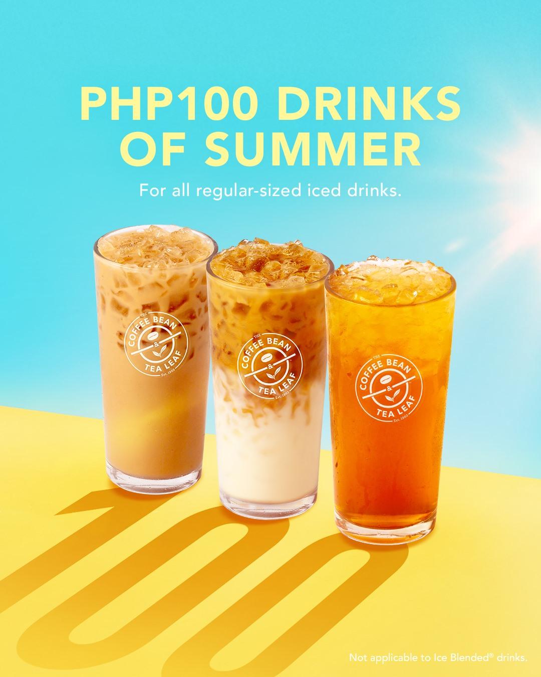 Coffee Bean & Tea Leaf P100 Summer Drinks Promo