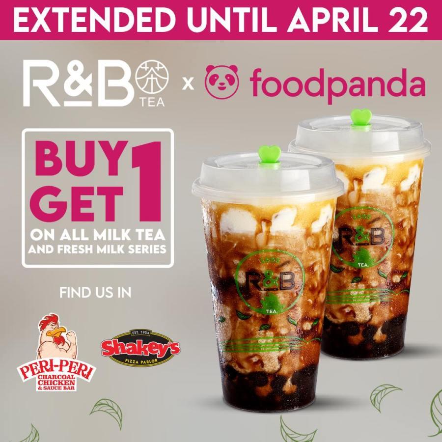 R&B Tea Buy 1 Take 1 Promo on FoodPanda Extended Until April 22