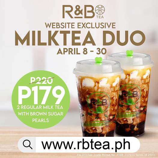 R&B Tea Milk Tea Duo Promo
