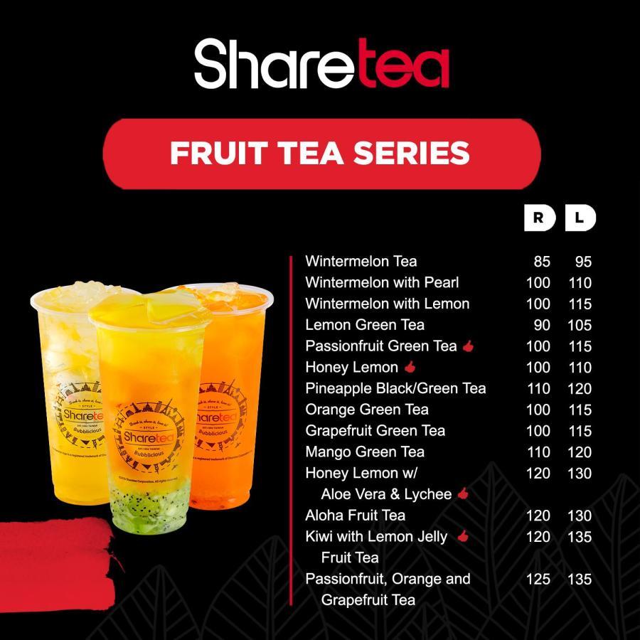 Sharetea Menu Fruit Tea Series