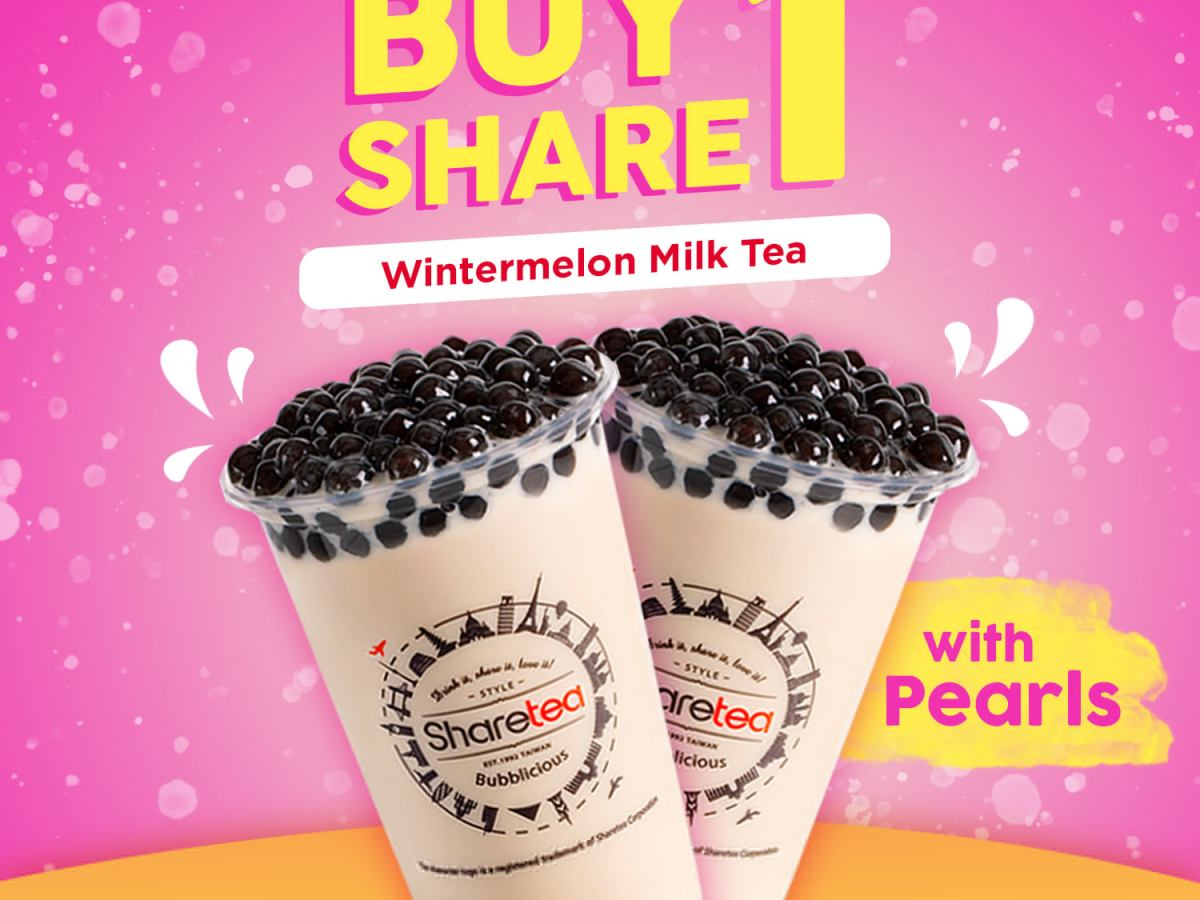Sharetea Philippines Promo Buy 1 Take 1 Wintermelon Milk Tea