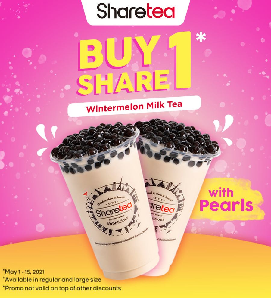 Sharetea Philippines Promo Buy 1 Take 1 Wintermelon Milk Tea