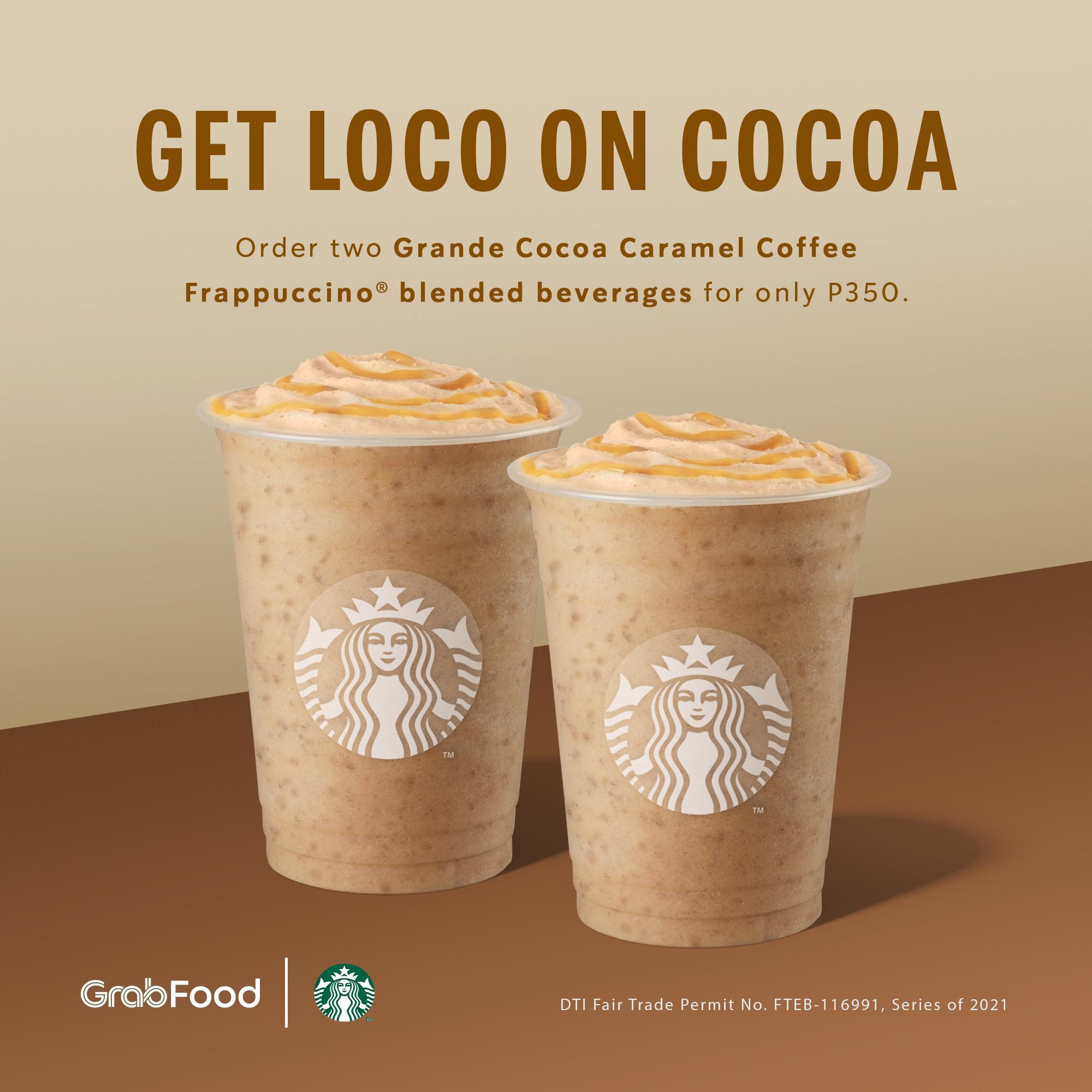 Starbucks Promo Cocoa Caramel Coffee Frappuccino for P350