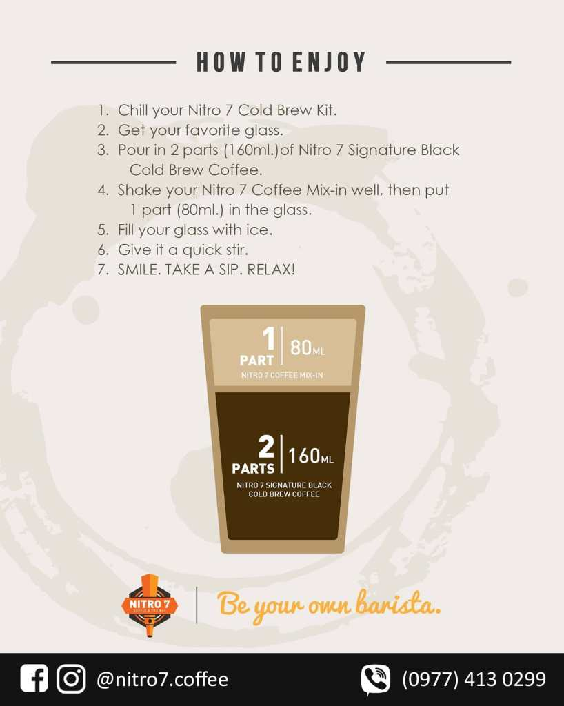 How to make cold brew coffee with Nitro 7 Cold Brew Kit