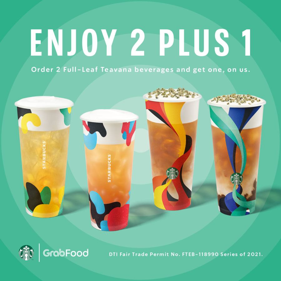 Starbucks Promo Philippines Enjoy 2 Plus 1 Summer Teavana