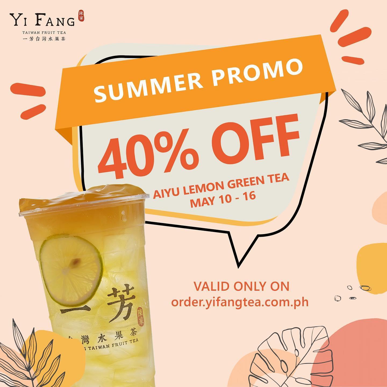 Yi Fang Promo Aiyu Lemon Green Tea 40% OFF