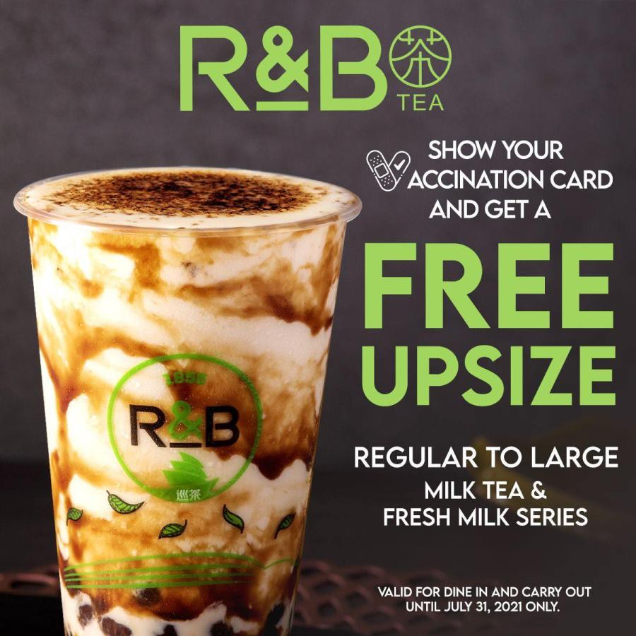 R&B Tea Philippines Vaccination Promo