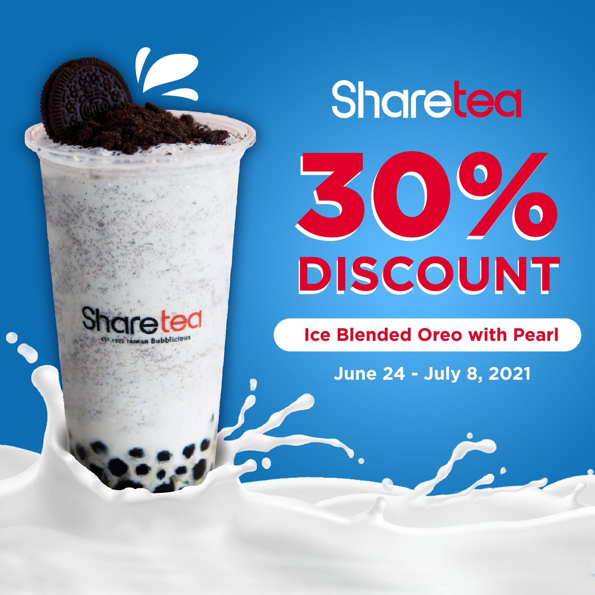 Sharetea 30% off on Ice Blended Oreo