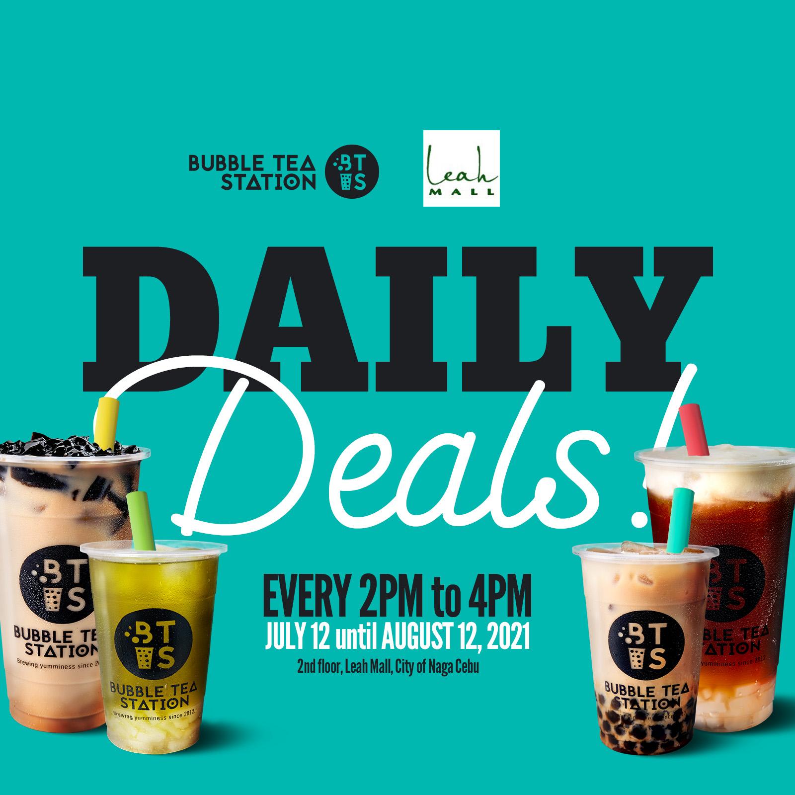 Bubble Tea Station Daily Deals Promo
