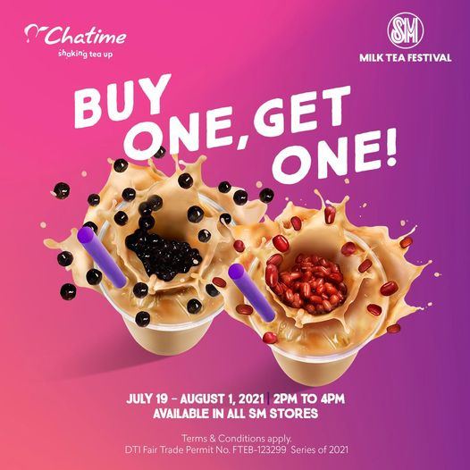 Chatime Promo Buy 1 Take 1 in all SM Stores