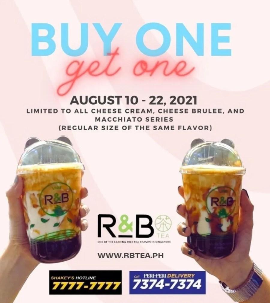 R&B Tea Buy 1 Get 1 Promo