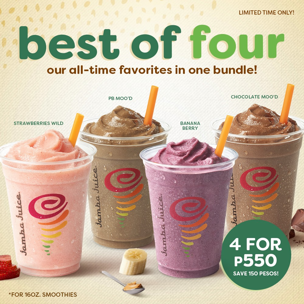 Jamba Juice Best of Four Promo