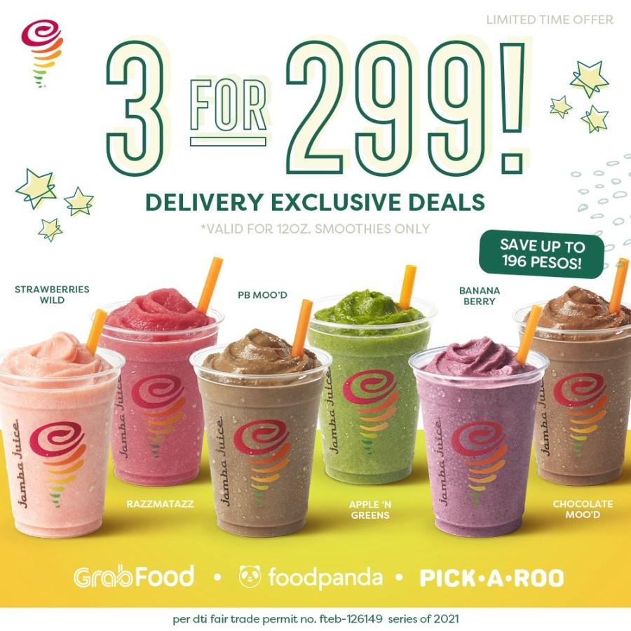 Jamba Juice 3 for 299 Promo