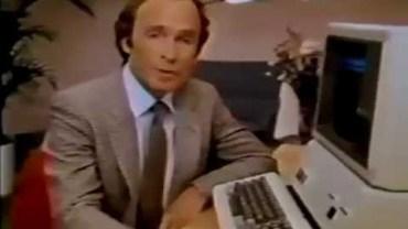 Apple II Ad mit Dick Cavett – Electronic Worksheet (1981)