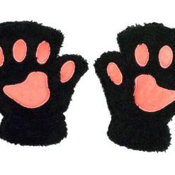 manusi cu pernute de pisica - NEGRE