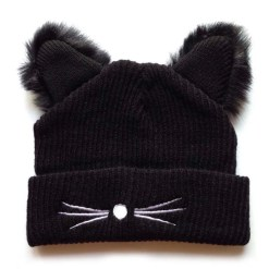 Caciula cu urechi pufoase de pisica