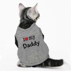 Tricou pentru pisici I love My Daddy