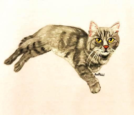 Tricou personalizat cu portret de pisica