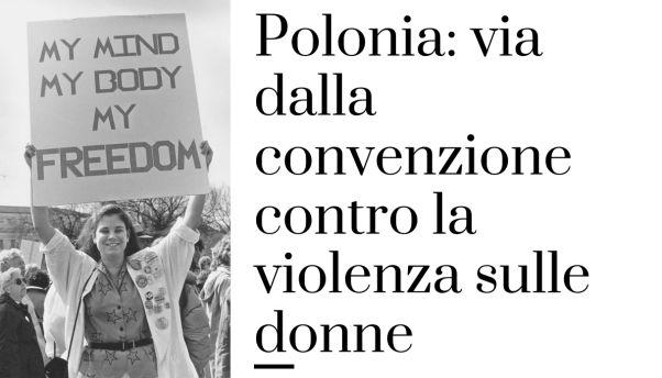 Polonia: via dalla convenzione contro la violenza sulle donne