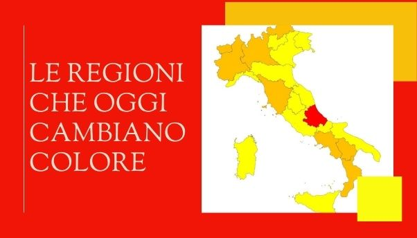 Quali regioni si colorano di giallo e arancione da oggi