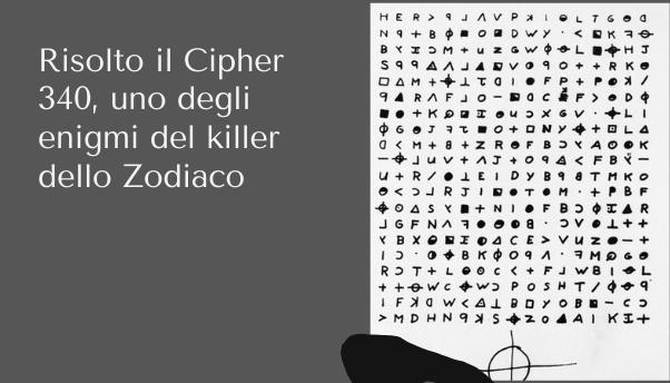 Risolto l'enigma del killer dello Zodiaco, dopo 51 anni