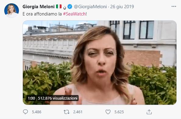 Giorgia Meloni e la paura di annegare