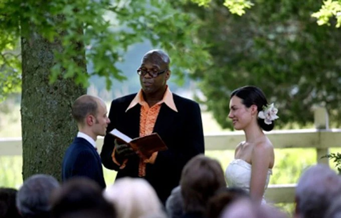 Who Will Officiate Your Wedding  Friend  Dad  Religious Figure    A     Would you ever consider having a friend or family member officiate your  wedding  Our friends Leigh and Taro got married in the Hudson Valley  and  their dear