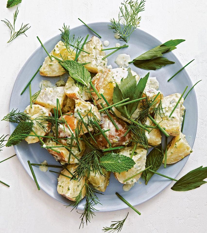 Potato Salad with Soft Green Herbs