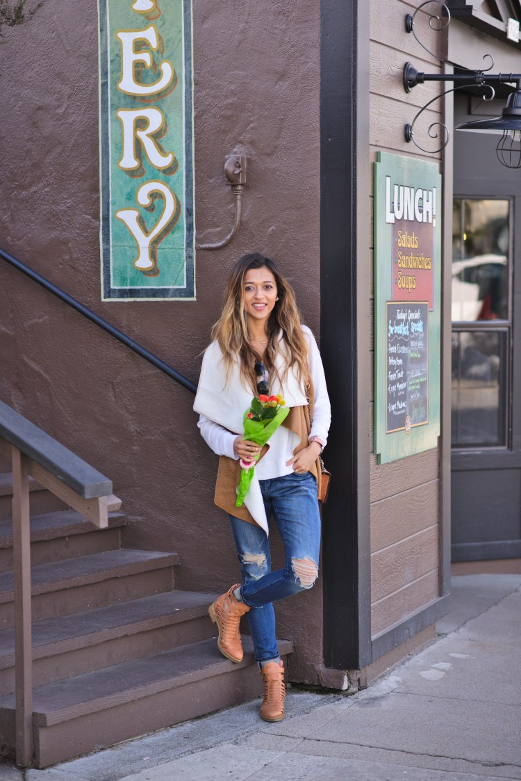 cuppajyo-sanfrancisco-fashion-lifestyle-blogger-flowers-brunch-santacruz-shearling-vest-feelthepiece-sweater-9