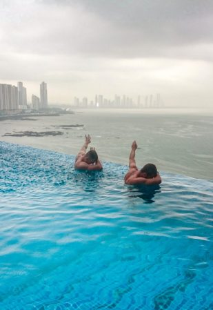 Panama City Trump Tower rainy season infinity pool | which country to visit in latin america central america