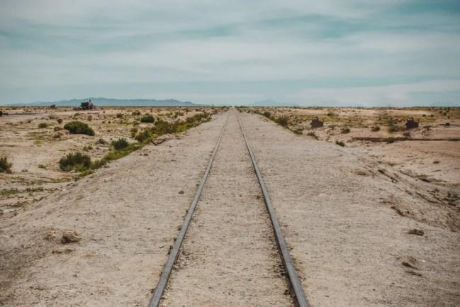 Train from La Paz Oruro to Uyuni train track Bolivia